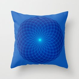 Blue and round Graphic Throw Pillow