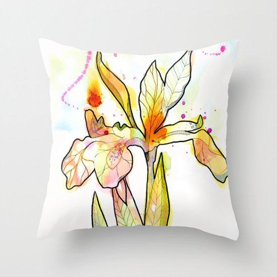 Queen Flower Throw Pillow