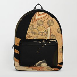 Japanese Cherry Blossom Japanese Woodblock Art Print Night Lamp Backpack
