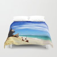 indonesia Duvet Covers featuring BALI, Indonesia  by BRIELLE LEVY