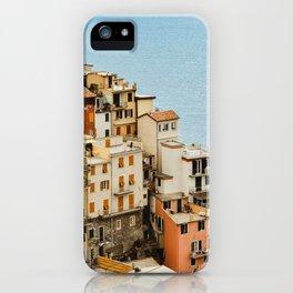 riomaggiore coast iPhone Case
