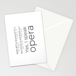 I speak opera (bass) Stationery Cards