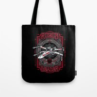 rogue Tote Bags featuring Rogue Leader by Buzatron