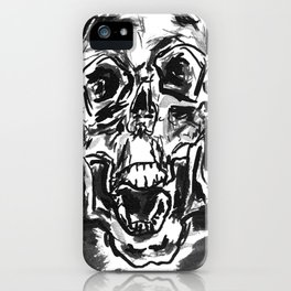 Shout skulls iPhone Case