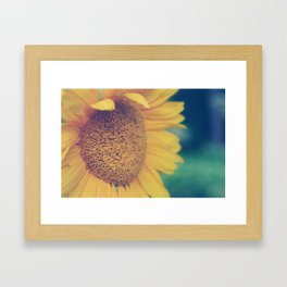 sunflower day Framed Art Print