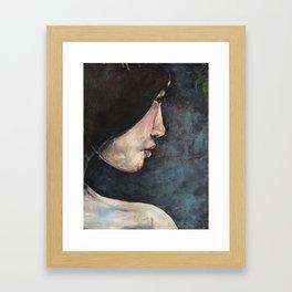 Girl in Trees Framed Art Print