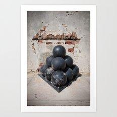 Cannonballs Art Print