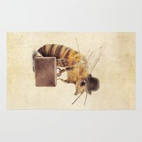 bee Area & Throw Rugs featuring Worker Bee by Eric Fan