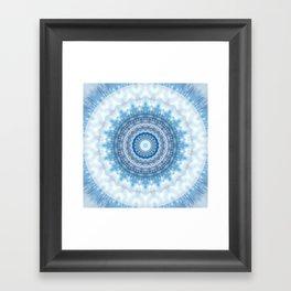 Mandala Day at the beach Framed Art Print