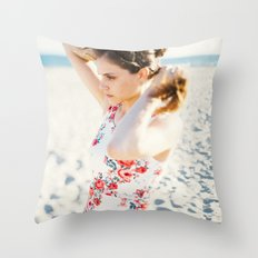 Beach Hair Throw Pillow