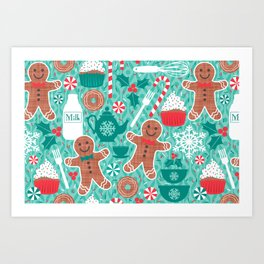 Gingerbread Christmas Treats Art Print