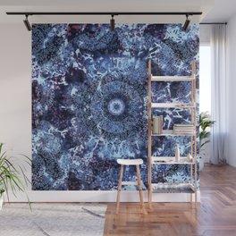 Iris Mandala Blue Wall Mural