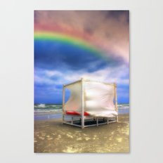 After Storm rainbows Canvas Print