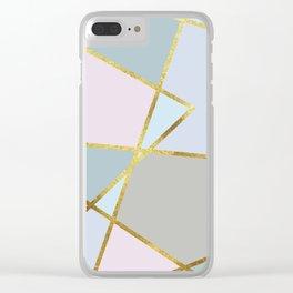 sweet geometric Clear iPhone Case