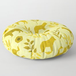 Forest Animal and Nature III Floor Pillow