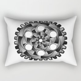 Gearwheel in black and white Rectangular Pillow