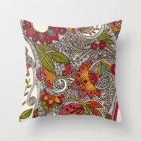 random Throw Pillows featuring Random Flowers by Valentina Harper