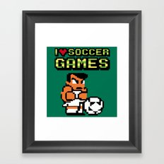 I Love Soccer Games Framed Art Print