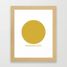 American Gold Framed Art Print