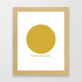 American Gold Framed Art Print