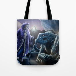 The sorceress and the dragon Tote Bag