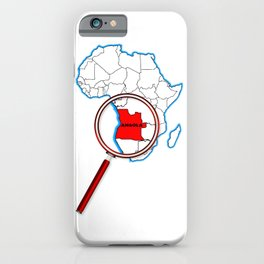 Angola Under The Magnifying Glass iPhone Case
