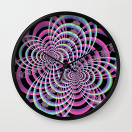 Lattice in Blue and Pink Wall Clock