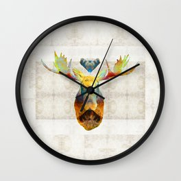 Mystic Moose Art by Sharon Cummings Wall Clock