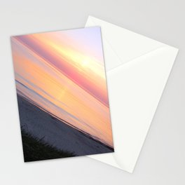 Sunset in the beach Stationery Cards