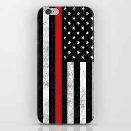 Thin Red Line iPhone Skin