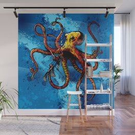 Octopus from the Deep Wall Mural