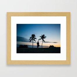 Tropic Silhouette  Framed Art Print