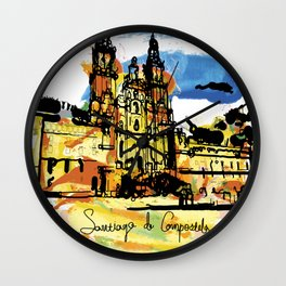 santiago  camino Wall Clock