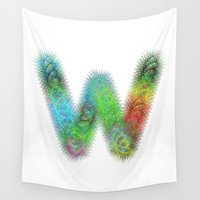 letter Wall Tapestries featuring Letter W by David Zydd