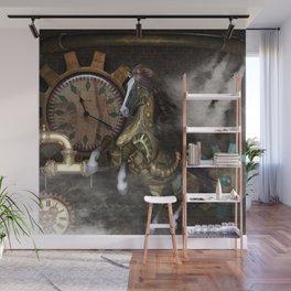 Steampunk, beautiful steampunk horse Wall Mural