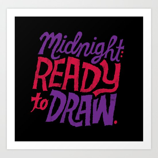 Midnight: Ready to Draw Art Print