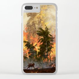 The fire demon of the rainforests Clear iPhone Case