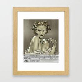 1930s Poison Ivy Mugshot Framed Art Print