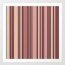 Striped Pattern (quiet shades of brown) Art Print