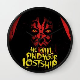 He Will Find Your Lost Ship Wall Clock