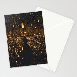 Golden Lights (Color) Stationery Cards