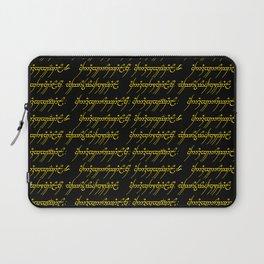 Elvish // Gold & Black Laptop Sleeve