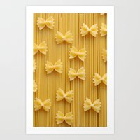 pasta Art Prints featuring Pasta  by Ylenia Pizzetti