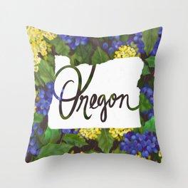 Oregon - Oregon Grape Throw Pillow