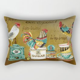 Roosters Majestic Rectangular Pillow
