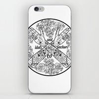 logo iPhone & iPod Skins featuring Logo by Dan PeaseIllustration
