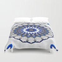 robots Duvet Covers featuring We, Robots by Mr. Pattern Man