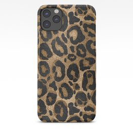 Golden and Black glitter  Leopard/ Jaguar print iPhone Case
