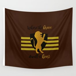 Gryffindor, Where the Brave Dwell At Heart Wall Tapestry
