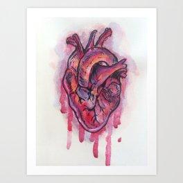 Dripping Heart Art Print